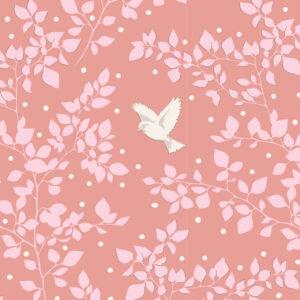 Quilting Sewing Fabric TILDA Maple Farm Birdie Rosehip 50x55cm FQ