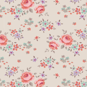 Quilting Sewing Fabric TILDA Maple Farm Gracie Sand 50x55cm FQ