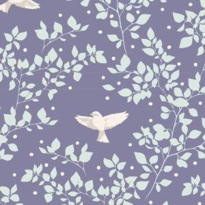Quilting Sewing Fabric TILDA Maple Farm Birdie Blueberry 50x55cm FQ