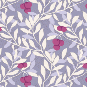 Quilting Sewing Fabric TILDA Maple Farm Cherrybush Slate 50x55cm FQ