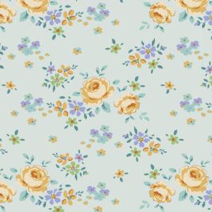 Quilting Sewing Fabric TILDA Maple Farm Gracie Teal 50x55cm FQ