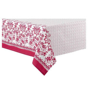 Ladelle Table Cloth WATERCOLOUR FLORAL RED 150x225cm Tablecloth