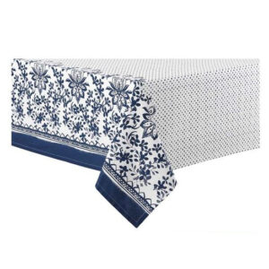 Ladelle Table Cloth WATERCOLOUR FLORAL NAVY 150x225cm Tablecloth