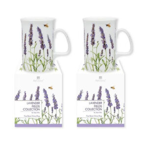 Ashdene Kitchen Tea Coffee Lavender Fields Mugs Cups Set of 2