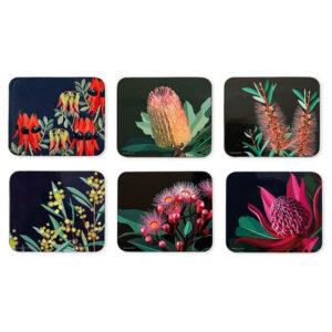 Ashdene Dining Kitchen Native Grace Cork Backed Coasters Set 6