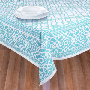 French Country Table Cloth VINTAGE PARADISE BLUE Tablecloth 150x300cm