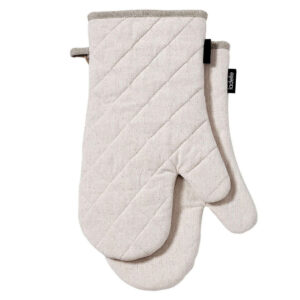 Ladelle Eco Recycled Natural Oven Gloves Set of 2 for Hot Oven