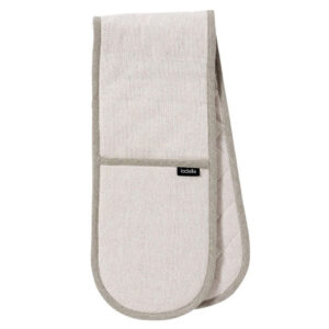 Ladelle Eco Recycled Natural Double Oven Mitts Set