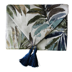 French Country Table Runner FERNS with Tassels 33x180cm