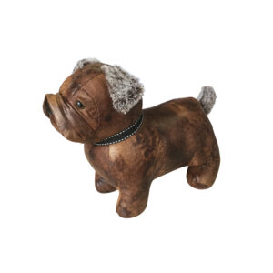 French Country Vintage Weighted DUKE THE DOG Door Stopper