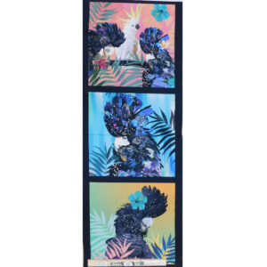 Patchwork Quilting Sewing Fabric BOTANICAL BIRDS 2 Panel 40x110cm