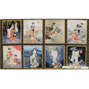 Patchwork Quilting Sewing Fabric IMPERIAL COL. JAPANESE Panel 60x110cm