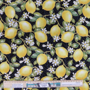 Patchwork Quilting Sewing Fabric LEMONS ALLOVER 50x55cm FQ New
