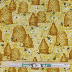 Patchwork Quilting Sewing Fabric BEE HIVES 50x55cm FQ New