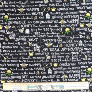Patchwork Quilting Sewing Fabric HONEY BUSY BEE 50x55cm FQ New