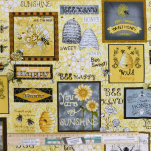 Patchwork Quilting Sewing Fabric BEE MY HONEY 50x55cm FQ New