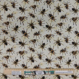 Patchwork Quilting Sewing Fabric TARANTULA SPIDERS 50x55cm FQ New