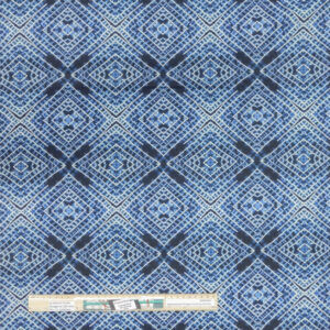 Patchwork Quilting Sewing Fabric SHIBORI BLUE DIAMONDS 50x55cm FQ New