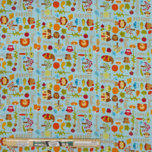 Patchwork Quilting Sewing Fabric HARVEST GARDEN 50x55cm FQ New