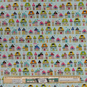 Patchwork Quilting Sewing Fabric HOUSES 50x55cm FQ New
