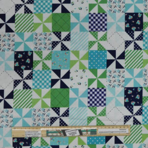 Patchwork Quilting Sewing Fabric COUNTRY GIRLS QUILT 50x55cm FQ New