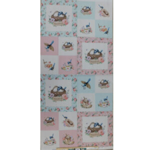 Patchwork Quilting Sewing Fabric LITTLE WREN COTTAGE Panel 54x110cm
