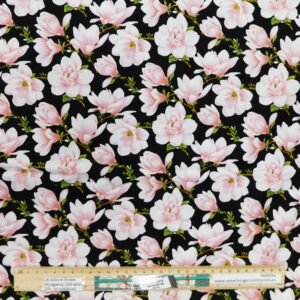 Quilting Patchwork Sewing Fabric MAGNOLIAS Allover Material 50x55cm FQ