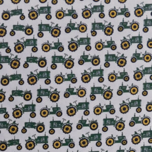 Quilting Sewing Fabric GREEN TRACTORS JOHN DEERE Allover Material 50x55cm FQ