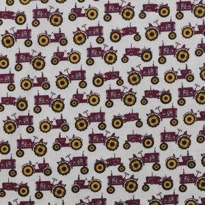 Quilting Sewing Fabric RED TRACTORS FARMALL Allover Material 50x55cm FQ