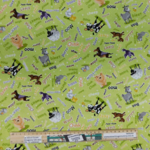Quilting Sewing Fabric SUSYBEE BARNYARD Allover Material 50x55cm FQ