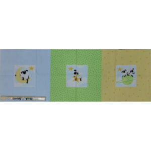 Patchwork Quilting Sewing Fabric SHEEP CUSHION 3 Panel 38x110cm
