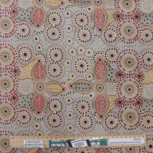 Quilting Sewing Fabric ABORIGINAL SPIRIT PLACE Allover Material 50x55cm FQ