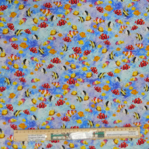 Quilting Sewing Fabric THE REEF FISH Allover Material 50x55cm FQ
