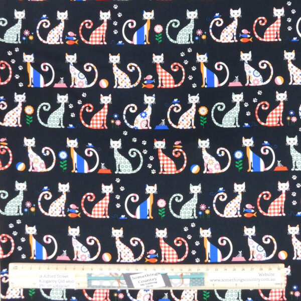 Quilting Patchwork Sewing Fabric FELIX THE CAT Allover Material 50x55cm FQ