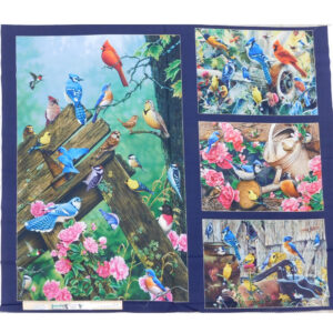 Patchwork Quilting Sewing Fabric SONGBIRDS Panel 94x110cm