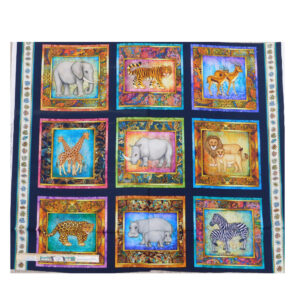 Patchwork Quilting Sewing Fabric AFRICAN SERENGETI Panel 90x110cm