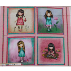Patchwork Quilting Sewing Fabric GORGEOUS GIRL 3 Panel 90x110cm