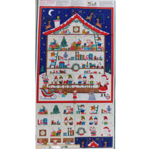 Patchwork Quilting Sewing Fabric SANTA SHOP ADVENT CALENDAR Panel 60x110cm