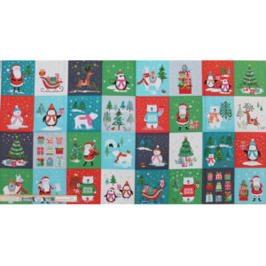 Patchwork Quilting Sewing Fabric LET IS SNOW CHRISTMAS Panel 59x110cm