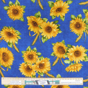 Quilting Patchwork Sewing Fabric SUNFLOWERS Allover Material 50x55cm FQ