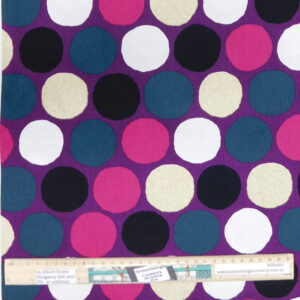 Quilting Sewing Fabric LARGE SPOTS PURPLE Allover Material 50x55cm FQ
