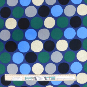 Quilting Sewing Fabric LARGE SPOTS BLUE Allover Material 50x55cm FQ