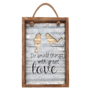Country Farmhouse Love Sign SMALL THINGS WITH LOVE Metal