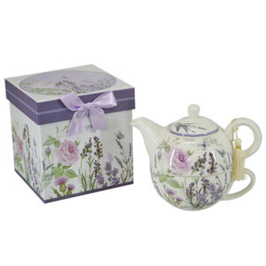 French Country Lovely Kitchen Tea For One LAVENDER China Teapot