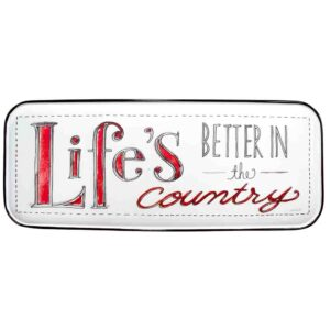 Country Metal Tin Sign Wall Art LIFE BETTER IN THE COUNTRY Plaque Enamel