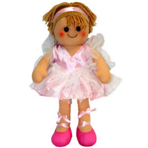 Hopscotch Lovely Soft Rag Doll BONNIE Pink Ballet Doll Large 35cm