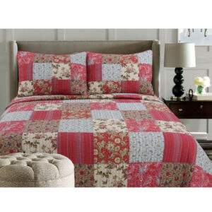 French Country Patchwork Bed Quilt COPPER CREEK KING Coverlet