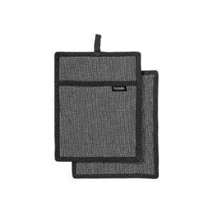 Ladelle Eco Recycled Charcoal Pot Holders Set of 2 for Hot Oven