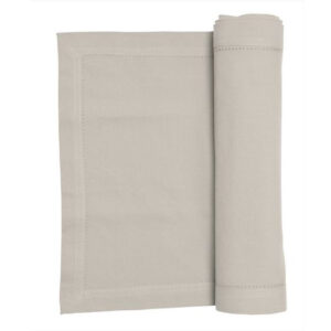 French Country Rans Table Runner HEMSTITCH OATMEAL 33x180cm