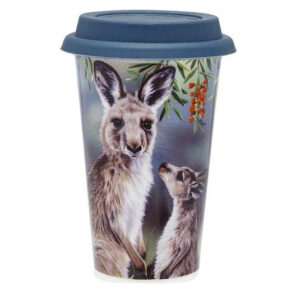 Ashdene Travel Tea Coffee Mug Cup Australian Fauna Kangaroo
